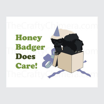 Honey Badger Printable Birthday Celebration Card