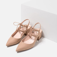 LACE - UP POINTED HIGH HEEL SHOES-View All-SHOES-WOMAN-SALE | ZARA United States