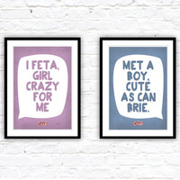 Grease, Grease movie, Kitchen art, Art print, Cheese art, Typography print, Poster quote, Quote poster