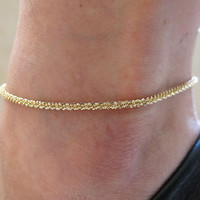 Beach Simple Design Chain Fashion Sexy Ladies Anklet = 5892940033