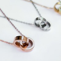 Amour Dainty Necklace - Stainless Steel