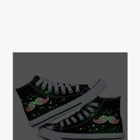 Glow In The Dark Beard Painted Canvas Sneakers