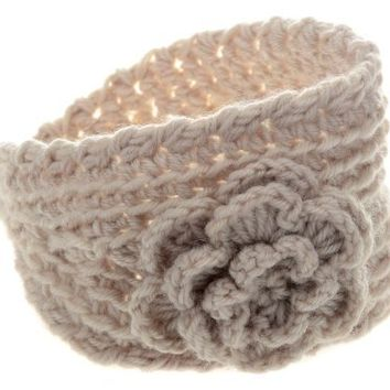 Imixlot Wool Knitted Hairband Flower Headband Ear Warmer Headwrap for Women Lady
