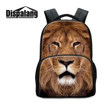 Boys bookbag trendy Cute Dog 3D Printed School backpacks for Girls Teen Boys Animal Felt Back Pack Fashion Mochilas Tiger Pattern Wolf  Youth AT_51_3