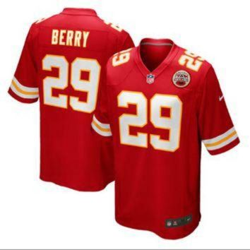 PEAPYD9 Men's Kansas City Chiefs #29 Eric Berry Red Stitched Nike NFL Color Rush Limited Jerse