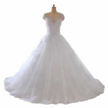 New Model Ball Gown Wedding Dress With Beads