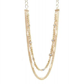 Richly Layered Fashion Necklace
