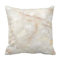 Marbled Oyster Shell Throw Pillow