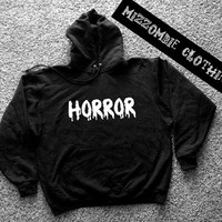 HORROR  Hoodie hooded sweater grunge goth alternative punk horror  MOVIE