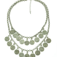 Charlotte Silver Coin Necklace