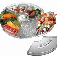 Appetizers-On-Ice with Lids Serving Tray