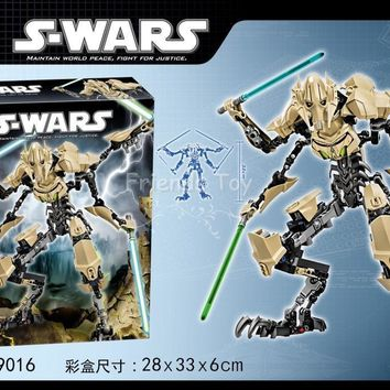 Star Wars Force Episode 1 2 3 4 5 186pcs  General Grievous Decool 9016 Lightsaber Hero Factory Building Blocks Set Toys Compatible With Lego AT_72_6