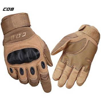 CQB Outdoor Tactical Gloves Full/Half Finger Sports Hiking Riding Cycling Military Men's Gloves Armor Protection Shell Gloves