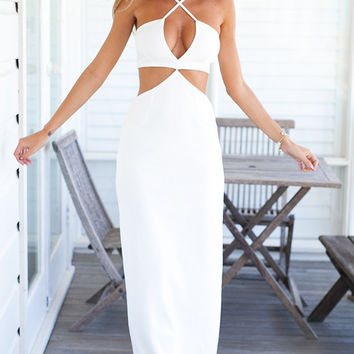 Criss Cross Cutout Maxi Dress