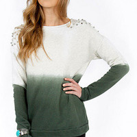 Stud Off My Shoulder Sweater $44