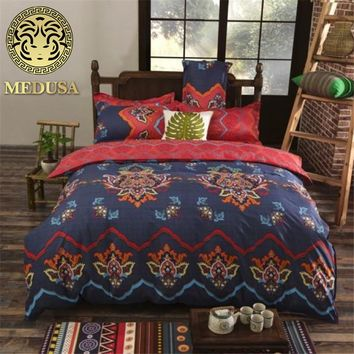 Medusa indian bohemian phenix doona/duvet cover set king queen double twin single size
