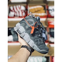 Original Nike Air More Uptempo gray Basketball shoe Size 36-45