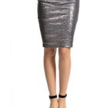 Glitter Sequins Pencil Skirt