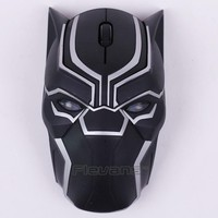 Cool Marvel Black Panther Wireless Mouse Laptop Computer Mice Collectible Figure