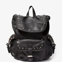 Studded Faux Leather Backpack