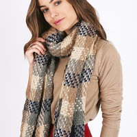 Kenton Plaid Scarf | Ruche