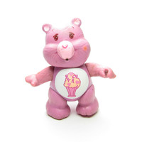 Share Bear Care Bears Vintage Poseable Toy PVC Figurine, Purple with Ice Cream Soda on Tummy