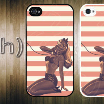 iPhone 4 Case - Vintage Pin Up Girl iPhone 4 4S Hard Case