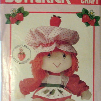 60% Off MEGA SALE Vintage Sewing Pattern 1980s Butterick 6173 Strawberry Shortcake Doll & Clothes Pattern