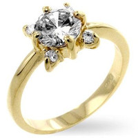 White Blossom Engagement Ring, size : 07
