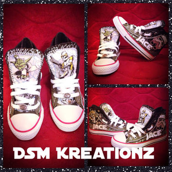 Custom Star Wars Theme Converse All Star Chuck Taylors