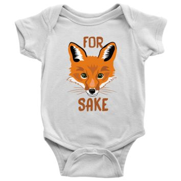Living You Co. For Fox Sake Onesuit | Fox Onesuit, Fox Baby Onesuit, Oh For Fox Sake Onesuit | Keep Your Baby Warm and Comfy | Newborn, 6M, 12M, 18M, 24M | 100% Cotton