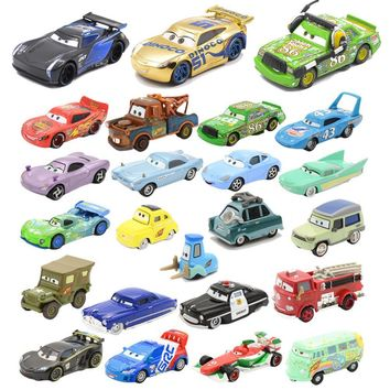 27Style Disney Pixar Cars 3 2 Black Storm Jackson Lightning McQueen Ramirez Curz Diecast Metal Car Model Toy Boy Christmas Gift