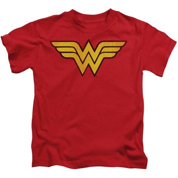 Wonder Woman Logo Dist Short Sleeve Juvenile 18/1
