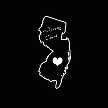 Jersey Girl New Jersey Love car vehicle auto window decal custom sticker laptop decal computer decal