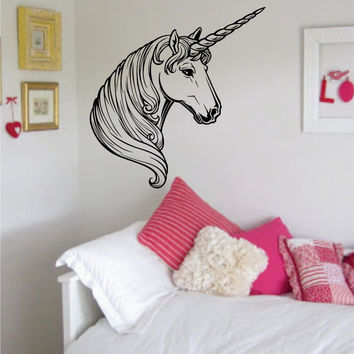 Unicorn Design Animal Decal Sticker Wall Vinyl Decor Art