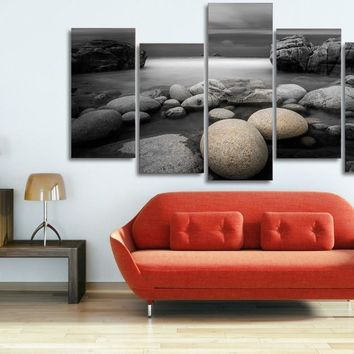 Beach Pebbles reef  Wall Art Canvas