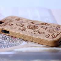 Ancient Maya Art Pattern iPhone 6 Wood Case, iPhone 6 Plus Wood Case Cover