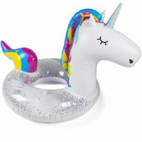 Giant Glitter Magical Unicorn Pool Float