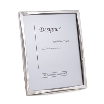 "Silver Tone 8""x10"" Picture Frame with Easel Back"