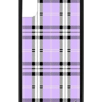 Lavender Plaid iPhone X Case