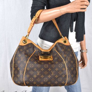 LOUIS VUITTON GALLIERA PM MONOGRAM LEATHER HOBO SHOULDER BAG HANDBAG PURSE TOTE