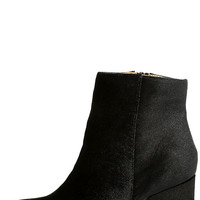 Annette Black Velvet Ankle Booties