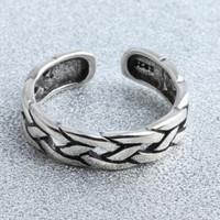 vintage retro style unique 925 silver ring men women cool adjustable ring gift 94