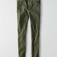 AEO Denim X Super Hi-Rise Jegging , Olive