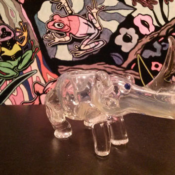The Rhino - Glass Smoking Pipe