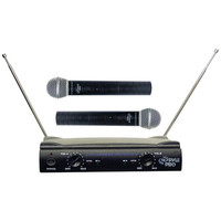 Pyle Pro PDWM2500 Dual VHF Wireless Microphone System W/Up to 240 Range