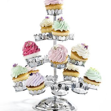 21 Cupcake Stand Chrome Plate