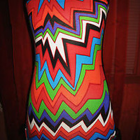 IMAGINE MINI DRESS /TOP W GEOMETRIC PRINT!SIZE S-L!NEW !MADE IN USA