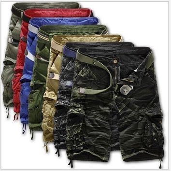 Casual Cargo Combat Camouflage Sports Pants Men Shorts