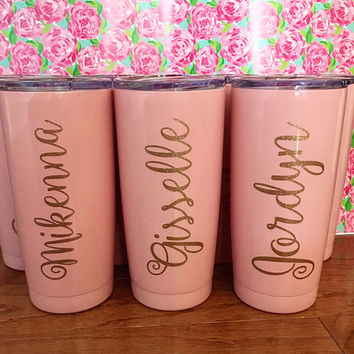 Personalized Tumbler, Powder Coated Tumbler, Monogrammed Tumbler, 30 oz 20 oz Stainless Steel Tumbler, Compare to Yeti